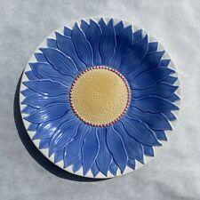 "Vintage Portfolio by Pfaltzgraff USA Purple Dahlia  Flower  16"" Platter Plate"