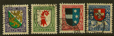 4 Number Swiss Stamps