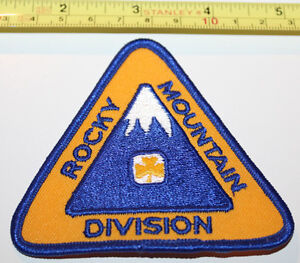 Girl Guides Rocky Mountain Division BC Canada Badge Label Patch