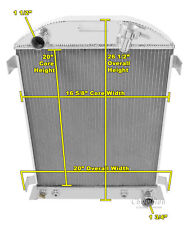 1932 Ford Coupe Champion 3 Row Aluminum Radiator for Chevy V8's CC3132