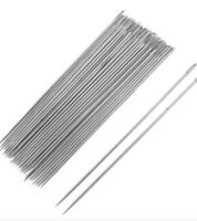 30 Pcs Silver Tone Steel Hand Long Sewing Needles 6.6cm Long agulhas pins set