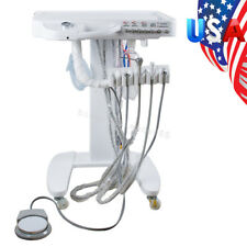 Dental Delivery Unit Cart Treatment Equipment no Compressor Handpiece 4 Hole FDA