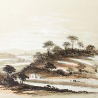 Antique watercolour painting near Clifton 19th century English School landscape
