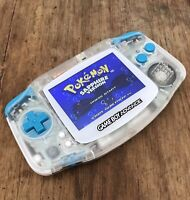 Nintendo Gameboy Advance GBA 101 Clear Teal Handheld Gaming Console BACKLIT IPS