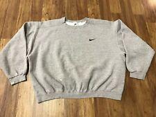 MENS XL - Vtg 90s Nike Embroidered Swoosh Check Sweatshirt Grey Pullover USA