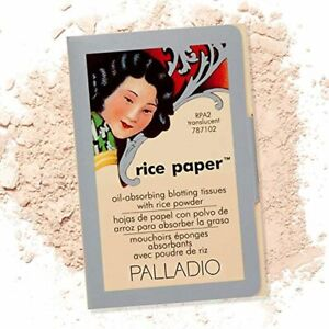 Palladio Rice Paper Facial Tissues for Oily Skin, Face Blotting Sheets Made from