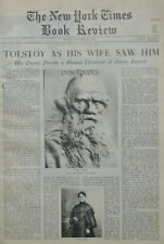 TOLSTOY FLANAGAN MUSSOLINI MOTHERWELL EMILE ZOLA October 28 1928 NY Times