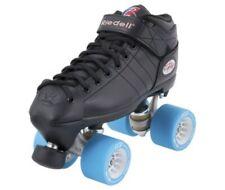 Riedell R3 Derby Rs Quad Roller Speed Skates w/ Radar Pop Wheels (Choose Color)
