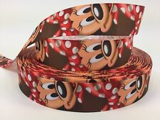 "BTY 1"" Disney Adorable Minnie Mouse Grosgrain Ribbon Hair Bows Lisa"