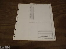 1983 Ford CL9000 heavy truck wiring diagram schematic SHEET service manual