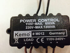 KEMO M012 MOTOR & LAMP CONTROLLER STEPLESSLY ADJUSTABLE GERMAN MADE