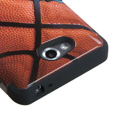 For MetroPCS LG Spirit 4G MS870 IMPACT TUFF HYBRID Case Phone Cover Basketball