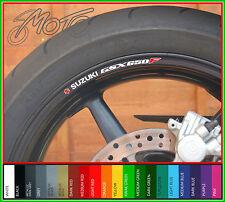 8 x SUZUKI GSX650F Wheel Rim Stickers Decals - gsx 650 f