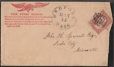 "E-L-12 EAGLES ""THE FIRST BLOOD"" ON BUFF CVR FRANKED W/ DULL RED #26 FINE BN8093"
