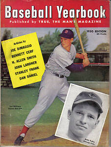 1950, True Baseball Yearbook,Magazine,Ted Williams, Boston Red Sox, Andy Pafko