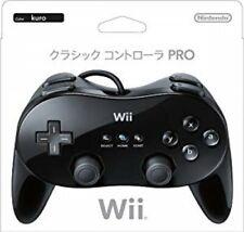 Nintendo Wii Game genuine Controller PRO Classic Black  JAPAN