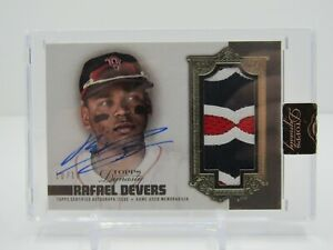 RAFAEL DEVERS 2019 TOPPS DYNASTY GAME USED PRIME PATCH AUTO #10/10- RED SOX!