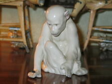 Beautiful Antique Heubach Monkey With Fly On Hand So Sweet