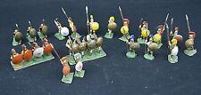 25 Vintage Lead Soldier Painted Roman Soldiers