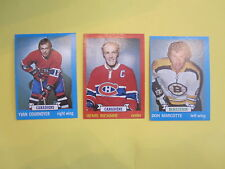 LOT OF 3 1973 74 TOPPS HOCKEY CARDS HENRI RICARD DON MARCOTTE YVAN COURNOYER