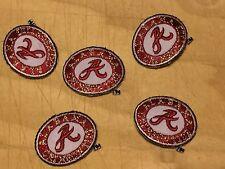 """Alabama Crimson Tide 1 1/8"""" Oval 5 (Five) Patch Lot 2004-Present Logo College"""
