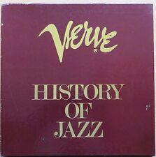 JAZZ - HISTORY OF JAZZ -  COFFRET  DE  10  LP  - VERVE  1978