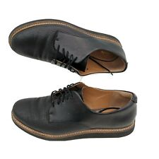 Clarks Artisan Brogues Women Size 7 UK Black Leather lace Up Flat Casual