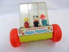 FISHER PRICE Happy Hoppers #121 1969 girl dog cowboy  ONLY  NO HANDLE
