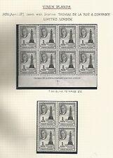 VIRGIN ISLANDS SG136-47 1952 GVI SET OF 12 MNH BLOCKS OF 4 ,LOVELY LOT C.£200+++