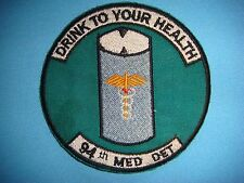 VIETNAM WAR PATCH US 94th MEDICAL DET, 119th ALT HEL.CO DRINK TO YOUR HEALTH
