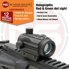 Holographique Rouge & vert VISEUR POINT / MICRO M1 Airsoft Fusil vue.