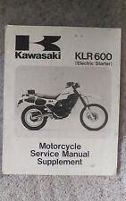 1985 Kawasaki KLR600 Electric Starter Shop Service Repair Manual Supplement OEM