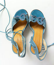 MARC JACOBS ankle strap high heel shoes size 3 EU36 denim blue worn once GC
