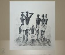 "African American Art - John Holyfield - ""Untitled"" Etching"