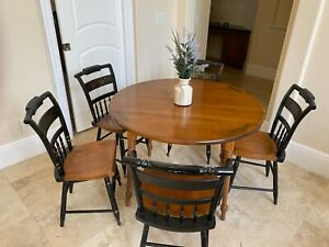 Round table and five chairs
