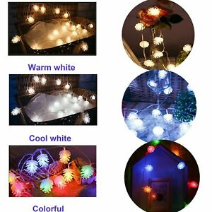 3M LED Bulb Pine Cone Lamp Home & Garden Light String Decor for Xmas Party Fairy
