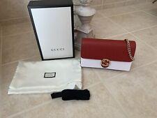 Gucci Interlocking GG Red Mini Women Bag Wallet With Chain Cross Body Mini Purse