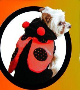 Dog Pet LADYBUG Shiny Red Halloween Purim Costume Parade Outfit XXS Small NEW