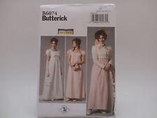Butterick 6074, Making History, Jane Austen, Regency Dress/Jacket/etc Sz (6-14)