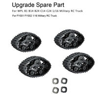 4x Upgrade Track Wheels Spare Parts For 1/16 WPL B14 C24 Military Truck RC Car U