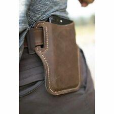 Men Genuine Leather Cellphone Loop Waist Holster Pouch Case Sheath w/Belt Hole