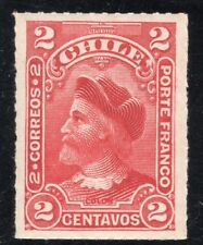 CHILE 1900/1 STAMP # 40 MNH WITH SHADOW RULETEADOS CABEZONES COLUMBUS