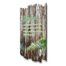 Rosmarin Kräuter Gewürz Bild Shabby aus Holz Wand Deko für Küche 30x20cm