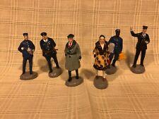 6 Vintage Resin Train Figurines Made in Japan