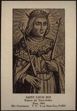 "santino-holy card""S.LUIGI RE DI FRANCIA"