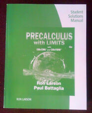 Precalculus w Limits Fourth Edition 2018 Student Solutions Man 9781337279857