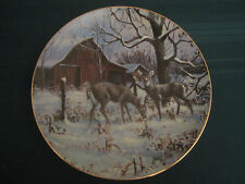 "Country Christmas 1990 Collector Plate Lowell Davis ""Wintering Deer"" Rare Schmid"