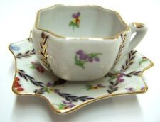 Porcelain Coffee Tea Cup w/ Plate