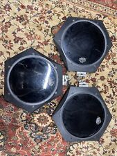 3 Tama Techstar T5100 Electronic Pads Vintage 1980's 2-white, 1-black