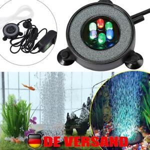 Aquarium Beleuchtung Mehrfarbig RGB Unterwasser Licht Bubble LED Aquariumlampe